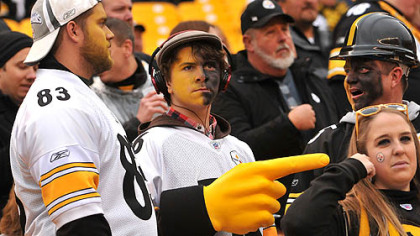 Fans in the stands at the Steelers-Redskins game at Heinz Field.