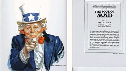 MAD's Alfred E. Neuman as Uncle Sam in April 1969, courtesy of artist Norman Mingo.