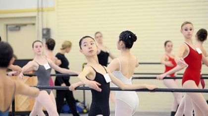 Chie Kondo, center, was one of 20 Japanese students who took part in Pittsburgh Ballet Theatre School's Intensive Summer Program.