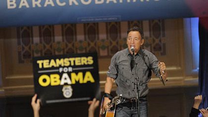 Bruce Springsteen at a rally at Soldiers & Sailors, Oakland, organized by Obama for America.