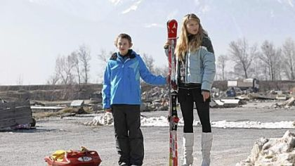 "Kacey Mottet Klein, left, and Gillian Anderson portray brother and sister in the Swiss film ""Sister."""