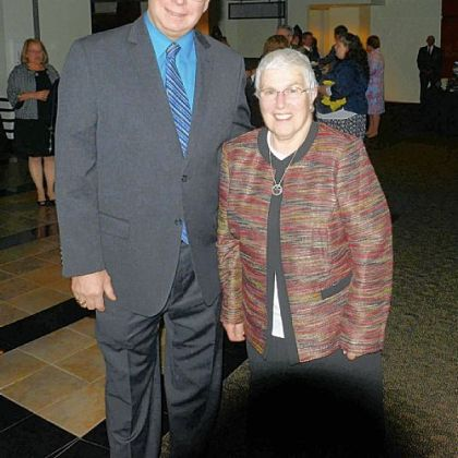 Honorees Richard Patton and Sister Virginia Pascaretta.