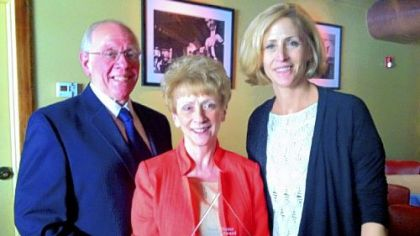 Honorees Bill and Marie Landon with Daryl Lucke, Ward Home executive director.