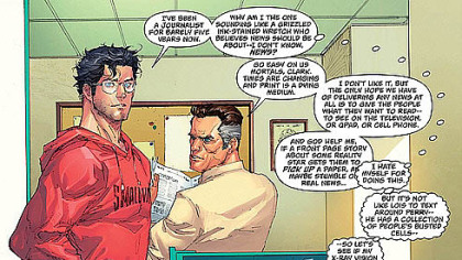 Clark has some angst, though.