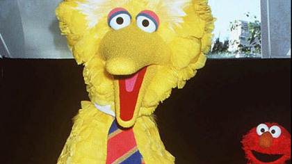 Big Bird is one of the most popular Halloween costumes this season.