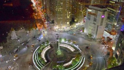 Columbus Circle in New York City.