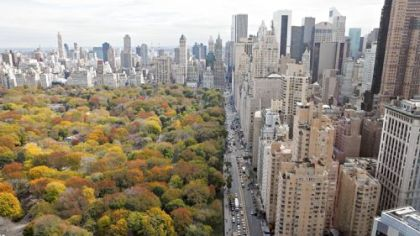 The Mandarin Oriental Hotel, 80 Columbus Circle, offers a spectacular view of Central Park.