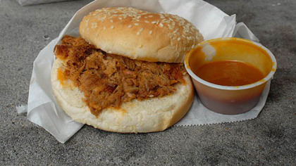 Pork barbecue at The Twist in Eutawville, S.C.