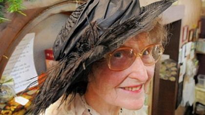 Norma Werner with her horsehair hat.