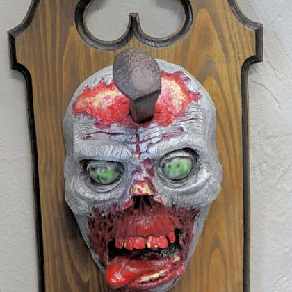 A zombie hook at House of the Dead.