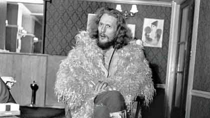 "Ginger Baker in ""Beware of Mr. Baker."""