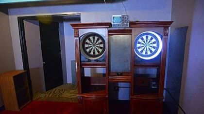 Dart boards from the arcade.