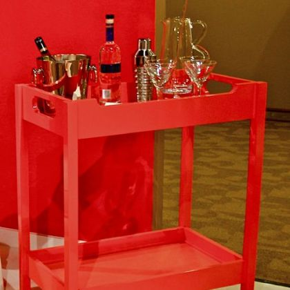 Oomph bar cart from Currey & Company.