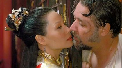 "Lucy Liu and Russell Crowe turn up the heat in ""The Man With the Iron Fists."""