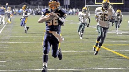 Mars' Joshua Schultheis carries for a touchdown against Blackhawk Friday night.