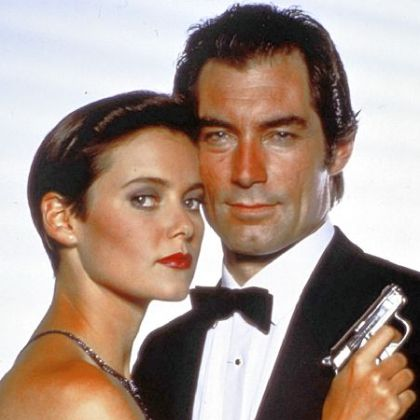 "Timothy Dalton, as James Bond, right, and Carey Lowell as Pam Bouvier in ""Licence To Kill."""