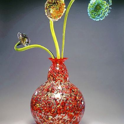 "A work of art by Dale Chihuly from ""Viva Vetro! Glass Alive! Venice and America,"" a year-long celebration of glass in 2007."