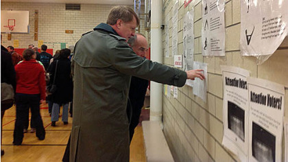Allegheny County Executive Rich Fitzgerald early this morning at the poll in Linden Academy, Point Breeze.