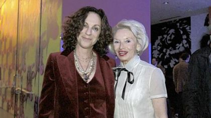Artist Deborah Kass with Donna Peterman.