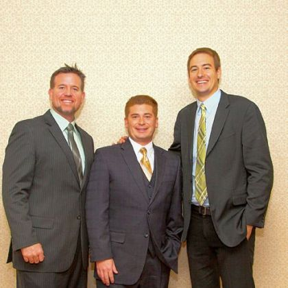 Honorees Sean Casey, Rich Walsh and Ian Rosenberger.