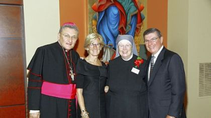 Bishop David Zubik, Mary Lou McLaughlin, Mother Judith and James F. Will.