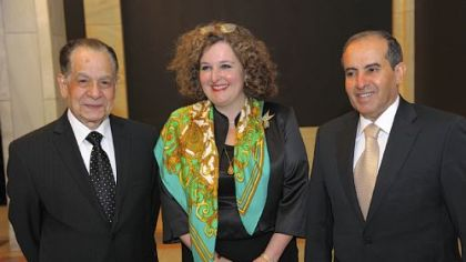 Dr. Ismail Sallam, Simini Curtis and Mahmoud Jibril.