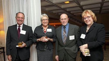 Dinner co-chairs Tim and Linda Burke, dinner chair Alex Speyer and Pittsburgh Parks Conservancy director Meg Cheever.