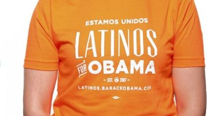 Unisex Latinos for Obama T-shirt, $30.