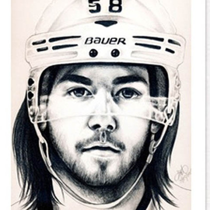 A fan drawing of Kris Letang