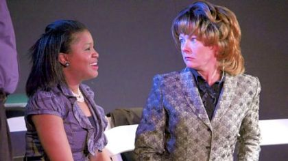 "Jamilah Muhammed, left, and Lissa Brennan in ""Redneck Revenge,"" written by Ray Werner and part of the Theatre Festival in Black & White."