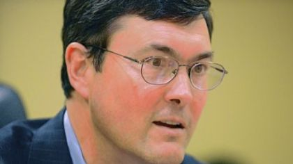 Pirates owner Bob Nutting talks with reporters in the team's offices earlier this week.