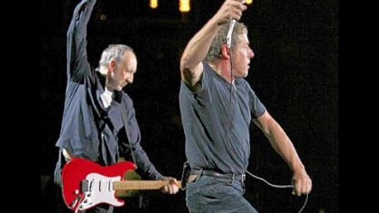 Pete Townshend and Roger Daltrey on tour.