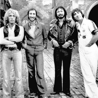 Members of the rock band The Who, from left, Roger Daltrey, Pete Townshend, John Entwistle, and Keith Moon, are shown in an undated file photo.