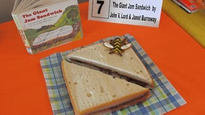 "Jane Hatfield of Whitehall won Adult Best in Show and Adult People's Choice for her adaptation of ""The Giant Jam Sandwich."""