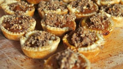 Coming Sunday: Mini Pumpkin-Maple Tarts with Toasted Pecan Streusel