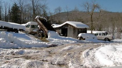 Heavy snowfall in Preston County, W.Va. The county seat, Kingwood, is less than 70 miles southeast of Pittsburgh.