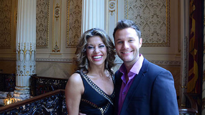 "Rachelle Rak and Matthew Hydzik, both formerly of the Pittsburgh area, at the launching of ""Flashdance -- The Musical"" at Heinz Hall."