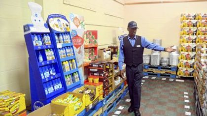 Store director Wayne K. Trotter in the C.E. Kelly Commissary in Oakdale. In fiscal 2011, the commissary reported sales of $6.3 million.
