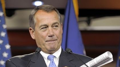 House Speaker John Boehner.