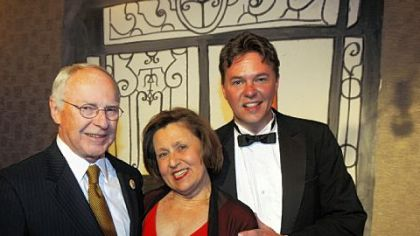 Eugene and Sandy O&#039;Sullivan with Andrew Paul.