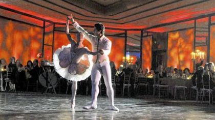 PBT dancers Christine Schwaner and Alexandre Silva.