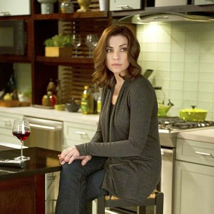 "Julianna Margulies on the set of ""The Good Wife."""