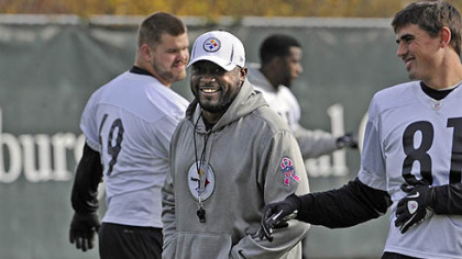 Steelers head coach Mike Tomlin at the team's practice facility on the South Side.
