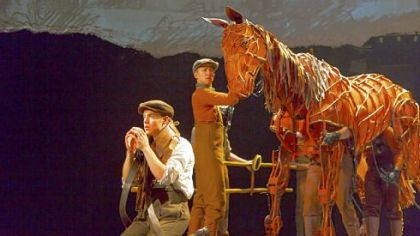 "Andrew Veenstra, Christopher Mai, Derek Stratton and Rob Laqui in ""War Horse."""