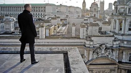 Daniel Craig as 007 checks out London in &quot;Skyfall.&quot;