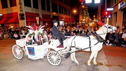 The Sounds of the Season Parade will include majestic horse-drawn carriages.  Seen here is 