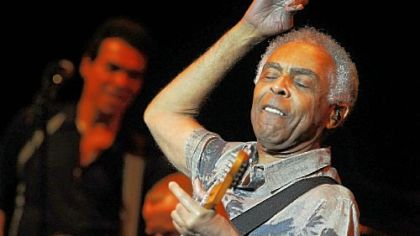 Brazilian singer-songwriter Gilberto Gil performs with his group at the Byham.