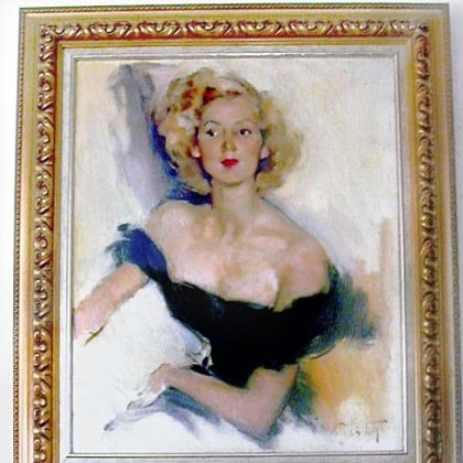 "A portrait of Amelia ""Mimi"" Neville Shields Guirola when she was in Paris."