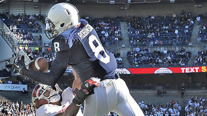 Penn State's Allen Robinson hauls in a touchdown pass against Indiana in the first quarter.
