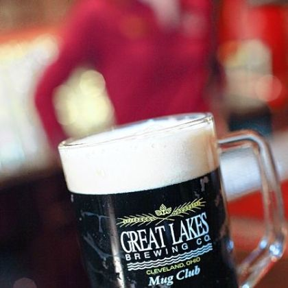 A glass of beer from Great Lakes Brewing Company.